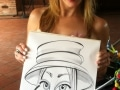 Mad Hatter's Tea Party caricatures