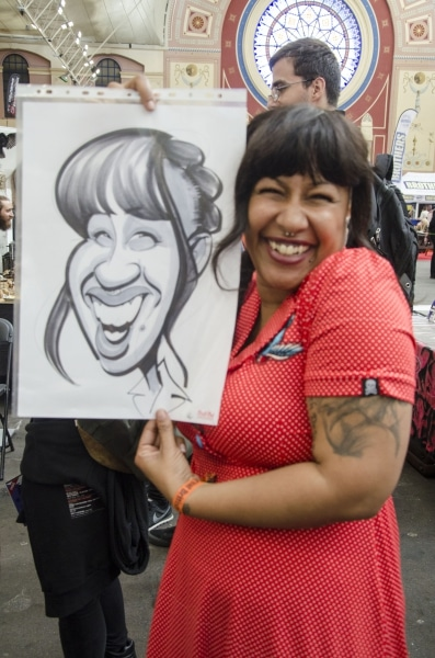 happy Tattoo show caricatures
