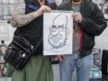 Caricature fan with George