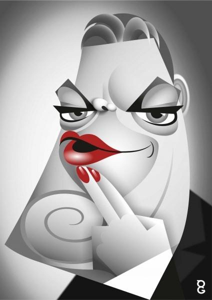 Eddie Izzard caricature