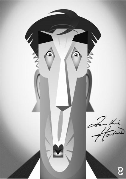 Frankie Howerd caricature