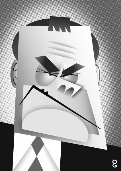 Jack Dee caricature
