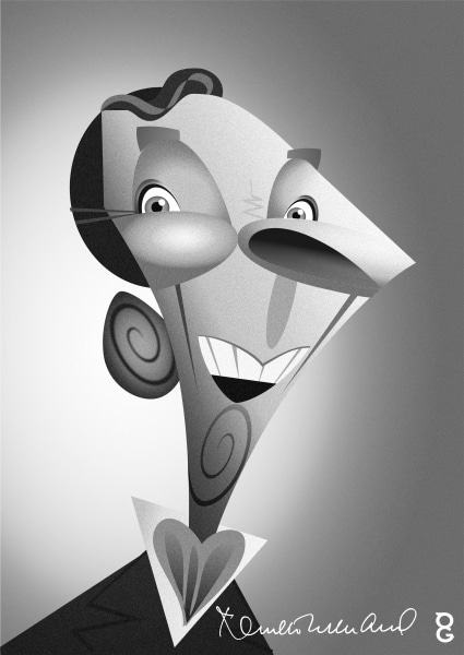 Kenneth Williams caricature