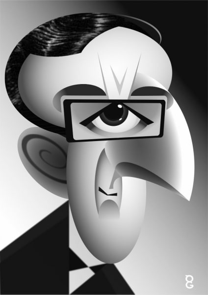 Peter Sellers caricature
