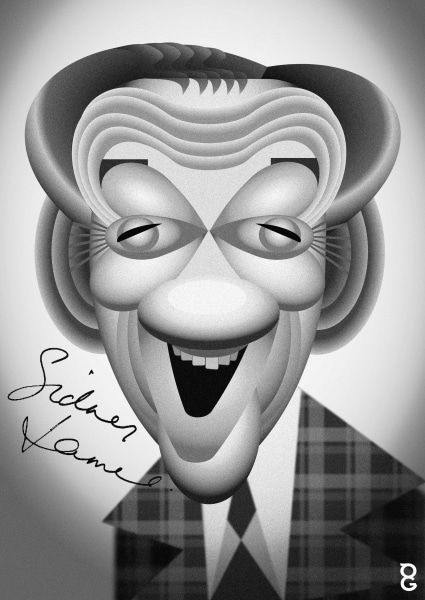 Sid James caricature