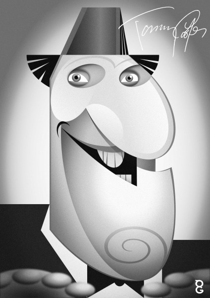Tommy Cooper caricature