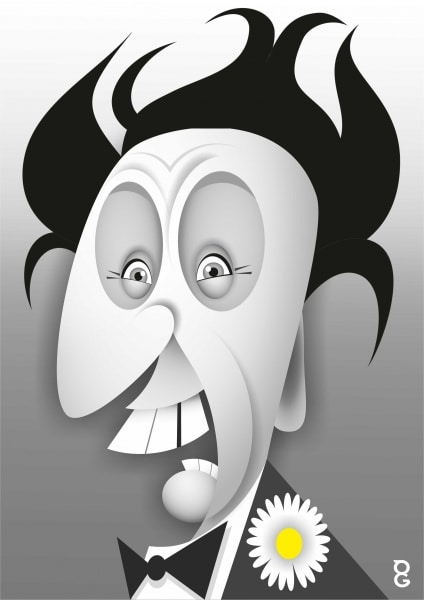 Ken Dodd caricature