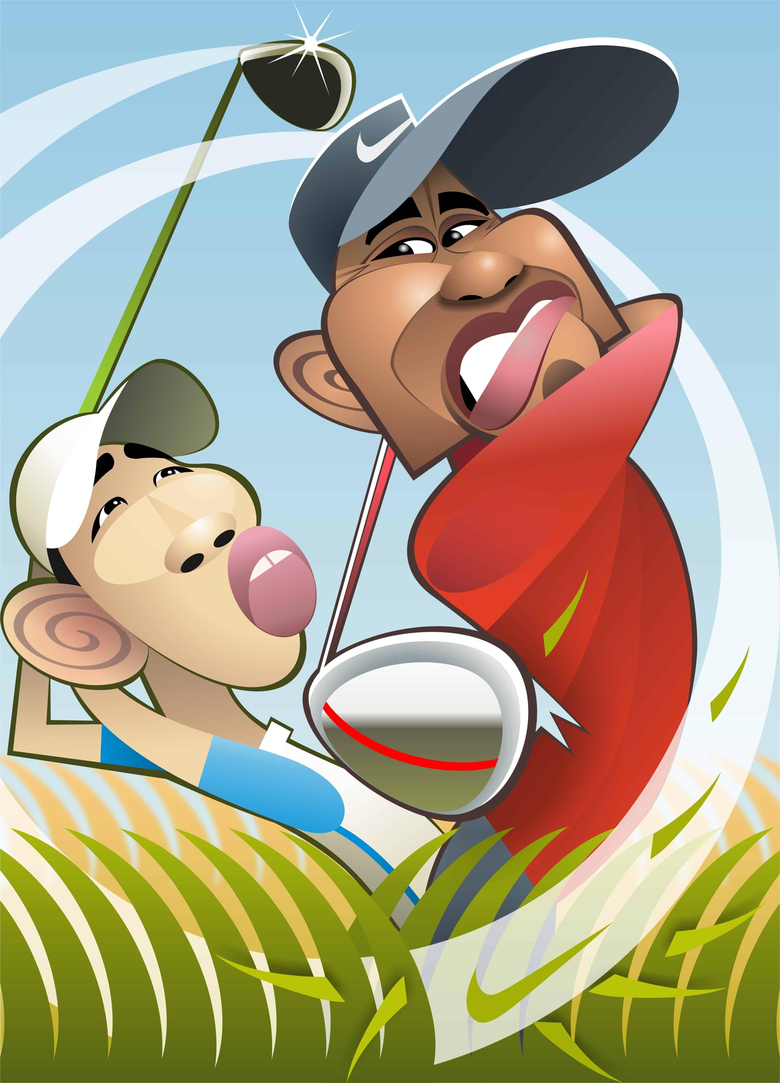 Tiger Woods & Guan Tianlang
