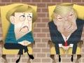 Merkel Trump meeting caricature