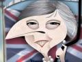 Theresa May caricature