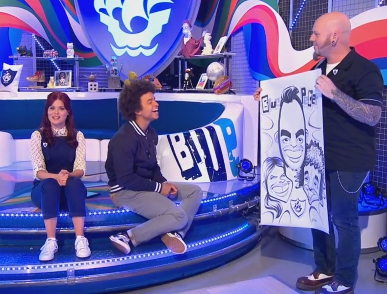 Blue Peter caricature reveal