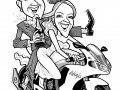 Caricature wedding invitation