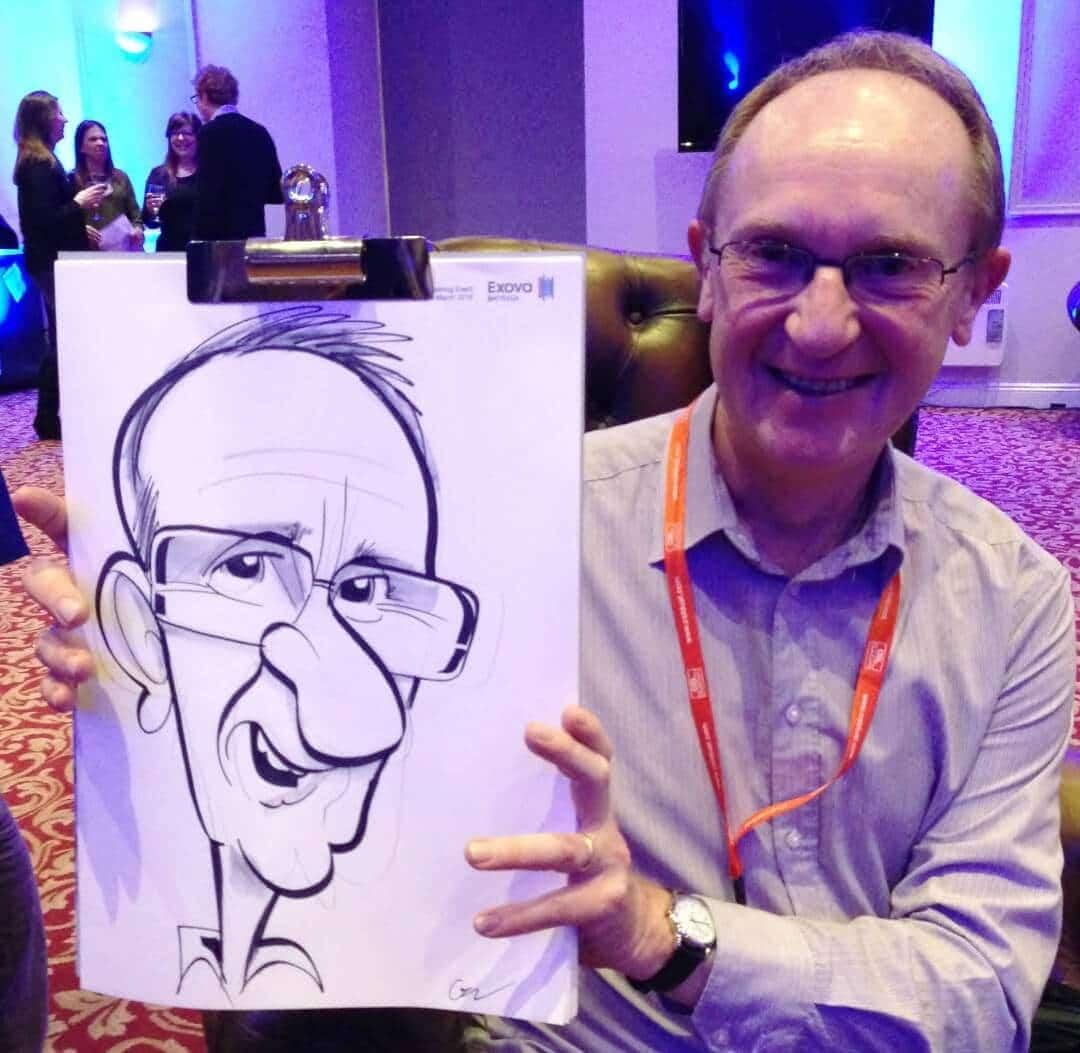 'Secure By Design' caricaturist