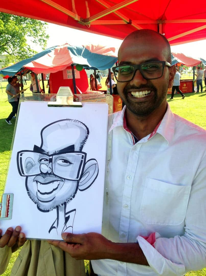 Caricatures in the park