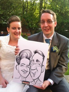 Derby Wedding caricatures