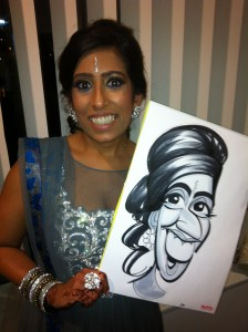 Asian Wedding caricatures