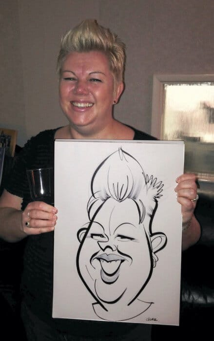 HOUSE PARTY CARICATURE