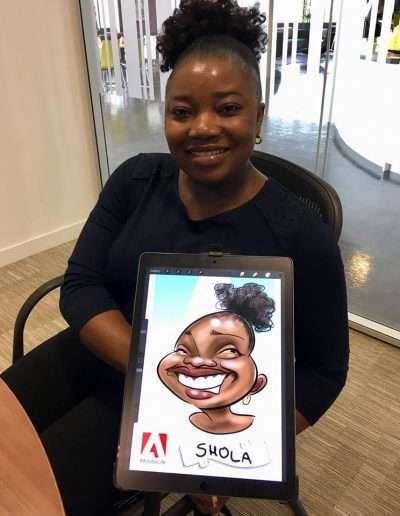 ipad caricature Birmingham