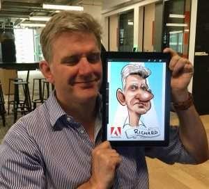 ipad caricatures