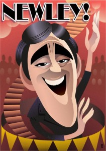 Anthony Newley caricature