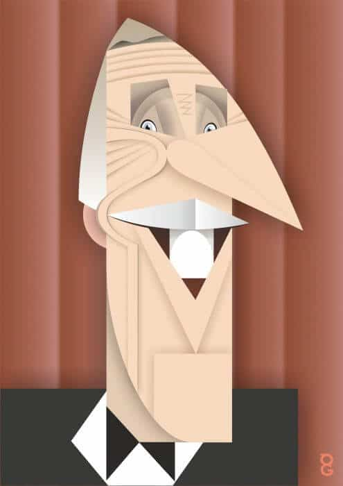 Bruce Forsyth caricature