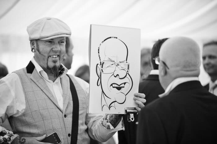 party caricaturist for hire