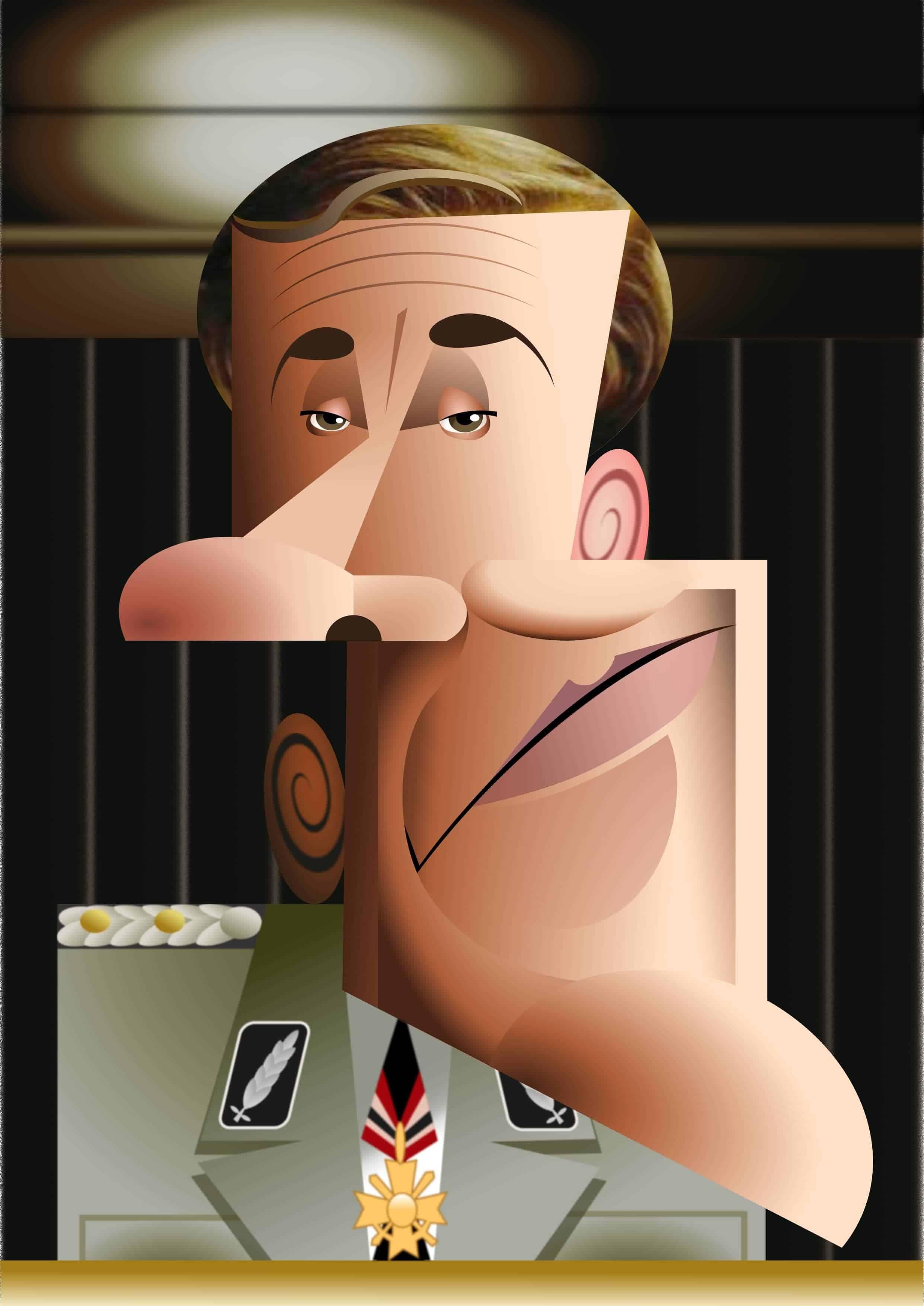 Christoph Waltz caricature