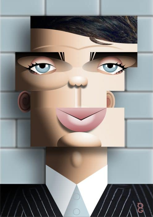 Cillian Murphy caricature