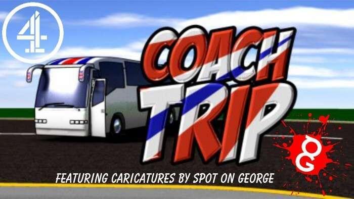 coach trip caricatures