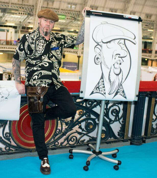 XL exhibition caricatures