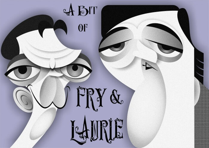 Fry & Laurie caricature