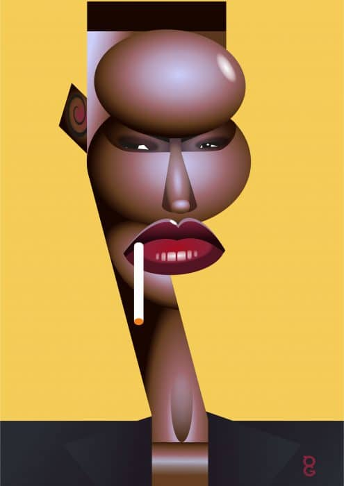 Grace Jones caricature