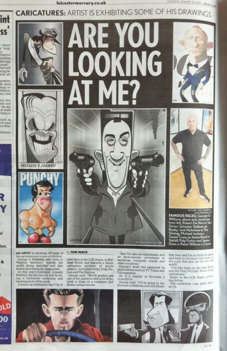 Leicester Mercury caricature exhibition