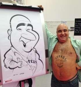 Stavros Flatley caricature