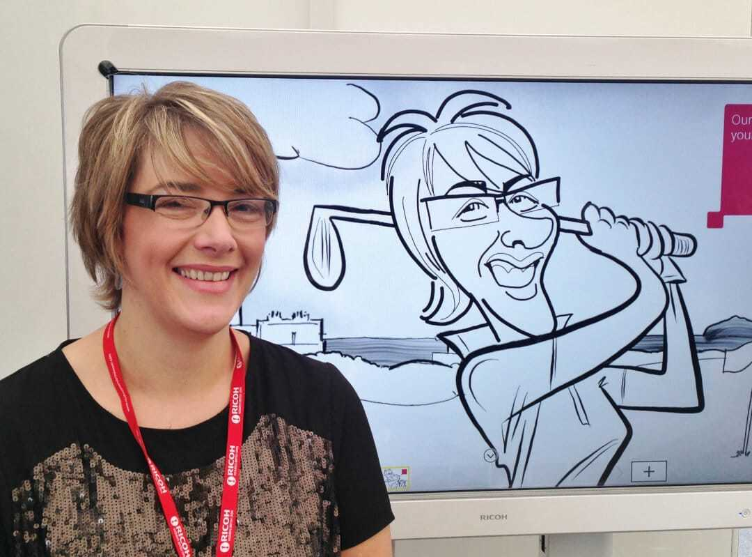RWBO CARICATURIST IN SCOTLAND