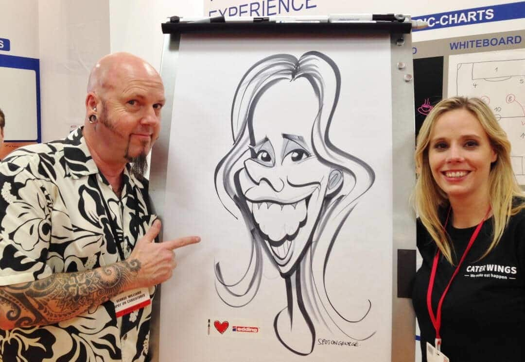 XL caricatures at Olympia