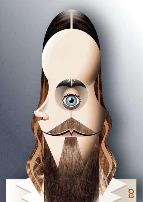 Jared Leto caricature