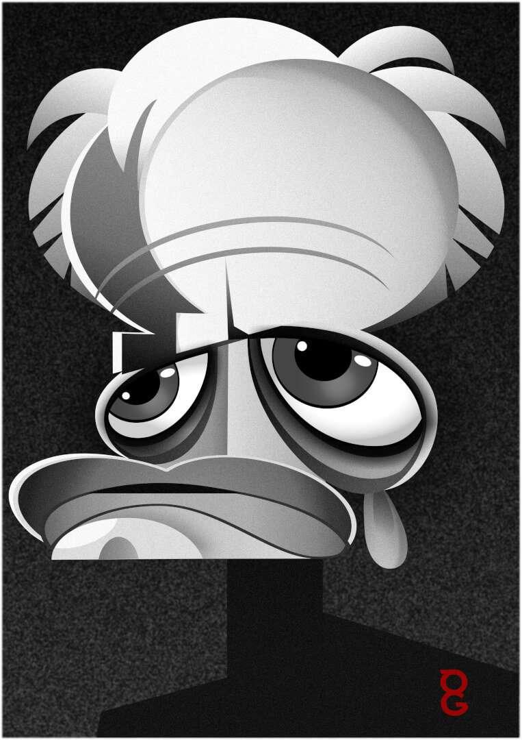 Klaus Kinski caricature