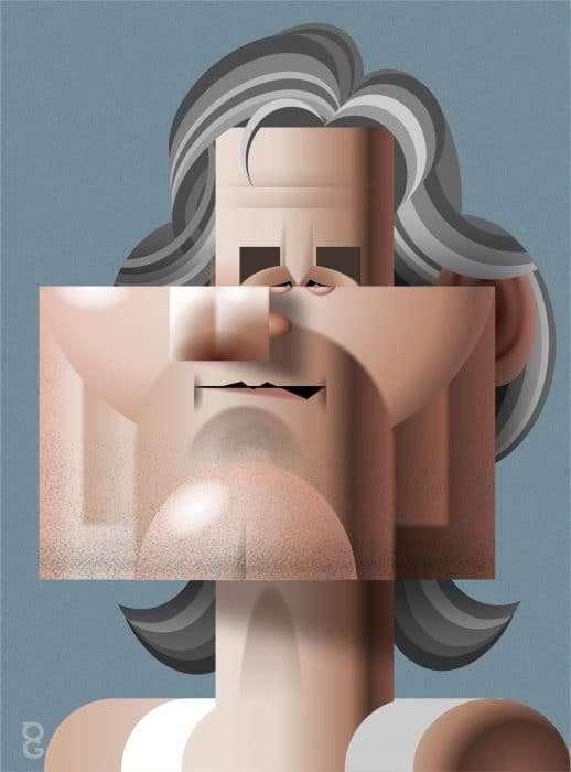 Kurt Russell caricature