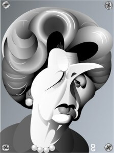 Margaret Thatcher caricature
