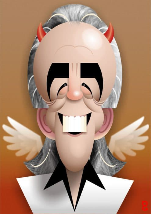 Peter Stringfellow caricature