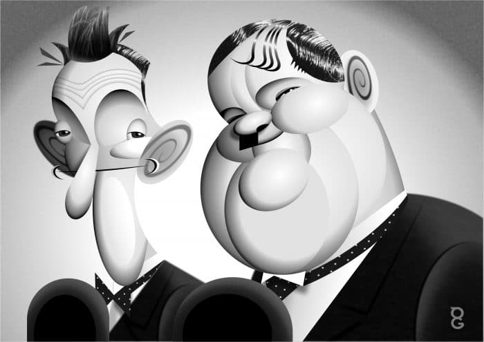 Stan & Olly caricature