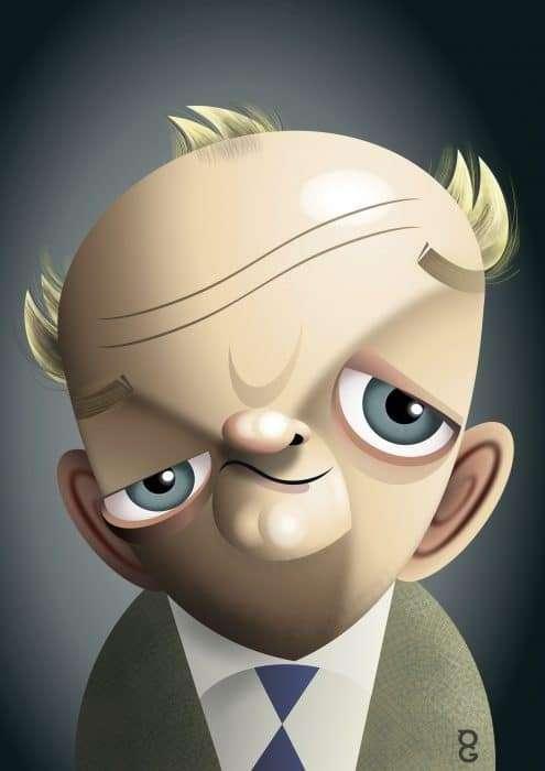Toby Jones caricature