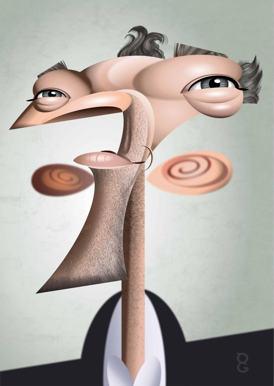 Vincent Cassel caricature
