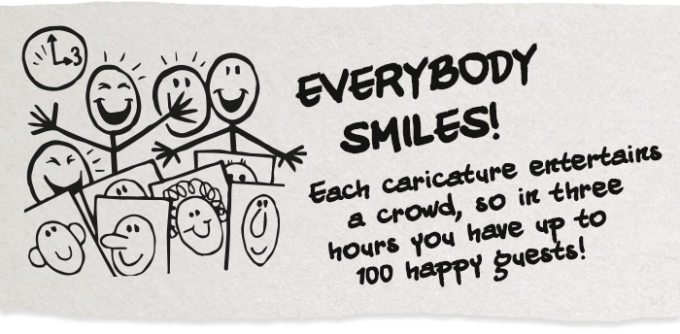 everybody smiles at caricatures