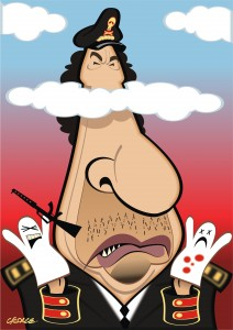 Colonel Gaddafi caricature